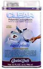 Clear Polyester Casting Resin Mix Castin Craft 32 oz LIQUID PLASTIC Mold Cast