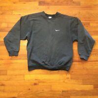 Vintage 90s Nike Swoosh Logo Sweatshirt Crewneck Faded Black Size XL