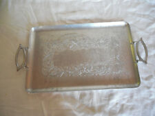 """Vintage Everlast forged aluminum large two handle serving tray 22.5"""""""