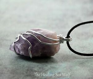 Intuitive & Calming Amethyst + Sterling Silver Pendant/Necklace Self Exploration