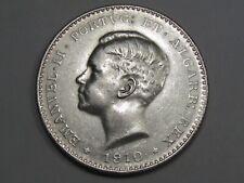 1910 Silver 1000 REIS Coin of Portugal. Manuel II. 1808-1814 Peninsular.  #30