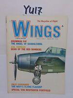 VINTAGE AIR PLANE MAGAZINE AVIATION WINGS PUBLICATION FEB 1972 GRUMMAN F4F PB2Y