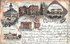 Gruss aus Kölleda Gaswerk Schule Schützenhaus Lithographie 1903