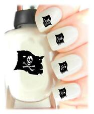Pirate Flag- Nail Art Decal Stickers, easy to use on any colour nail.475
