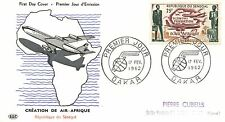 FIRST DAY COVER PREMIER JOUR / SENEGAL DAKAR 1962 / CREATION AIR FRANCE / AVION