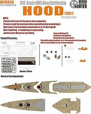 Hunter 1/700 W70056 Wood deck HMS Hood 1931 for Trumpeter