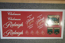 Raleigh Clubman decal set, including 531's. 13 decals total. Original artwork.