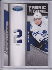 2011-12 Certified Luke Schenn Fabric of the Game Patch # 2/10 Ebay 1/1 2 color