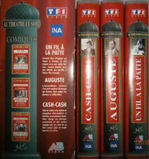 VHS COFFRET 3 CASSETTES VIDEO -  UN FIL A LA PATTE, AUGUSTE, CASH-CASH / THEATRE