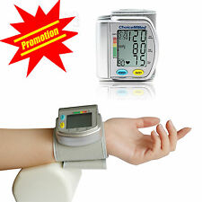 Auto type Wrist Blood Pressure monitor Digital LCD Screen Heart Pulse BP monitor