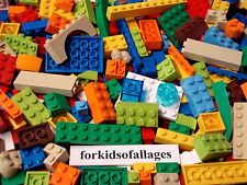 100 Bulk Lego Lot BRIGHT COLORS MIX Lime Green Orange+ Bricks Blocks Plates+