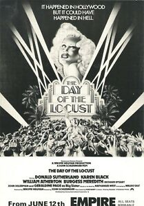 A4 Advert Day of the Locust 1975 Donald Sutherland Karen Black Burgess Meredith