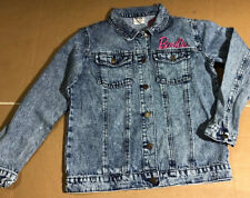 Barbie Girls Denim Jacket 60th Anniversary Size Xl Embroidered