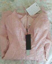 Size 12 Halston Designer Dress Pink Jacquard Pockets New In Box