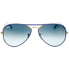 Ray-Ban Iridium Aviator Blue & Gold 58 mm Men's Sunglasses RB3025JM 001/4M 58