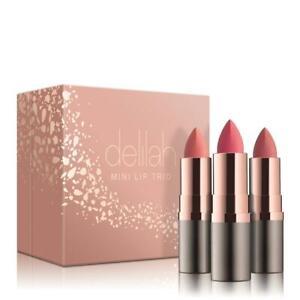 NEW - delilah MINI LIP TRIO - (CHRISTMAS GIFT SET) - Nude Collection -  RRP £32