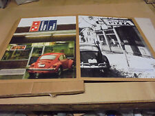 Set of 2 Domino's Domi-Nick's Pizza Restaurant Framed Art Poster Signs VW Beetle