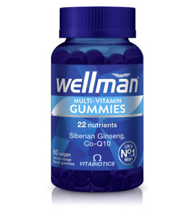Vitabiotics Wellman Multi-Vitamin Gummies 60 Vegan Orange Gummies (9497)