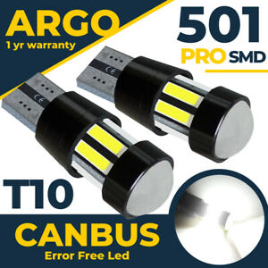For BMW 1 Series Convertible E88 Led Projector White Side light Bulbs 2007-2013