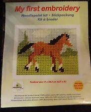 Stickpackung Pferd Gobelinstich Sticken für Kinder 9707