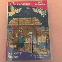 Anita Goodesign Nativity Tile Scene Embroidery Machine Design CD NEW 103AGHD