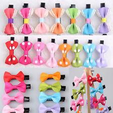 10Pcs Toddler cute Girl Hair Clip Ribbon Bow Baby Kids Satin Bowknot Headband c