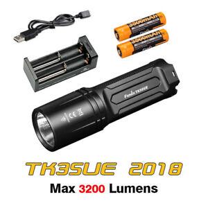 Fenix TK35 UE 2018 Cree LED Tactical Flashlight Torch+3500mAh Battery + Charger