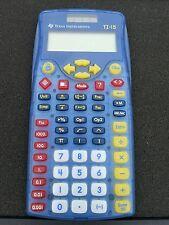Scientific Calculator Texas Instruments TI-15 - Solar Powered - Blue Transparent