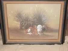 "WAYNE BAIZE "" Range Baby'' Framed and Matted Print"