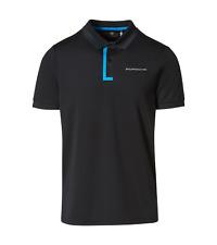 New Genuine Porsche Drivers Selection Black & Blue Mens Polo Shirt Size Small