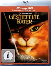 3D + 2D Blu-ray DER GESTIEFELTE KATER Antonio Banderas Deutsch Türkisch Englisch