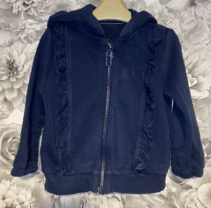 Girls Age 2-3 Years - M&S Navy Hooded Zip Up