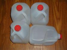 12-1 GALLON HDPE FOOD GRADE PLASTIC MILK JUGS WITH TAMPER PROOF SCREW CAPS