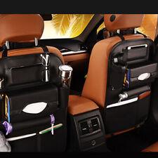 Car Leather Seat Back Bag Organizer Storage For iPad Phone Holder Multi-Pocket