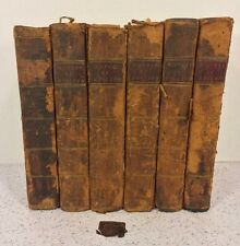 Antique 6 Vol The History of England by David Hume 1795-1796 Campbell's Edition