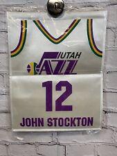 John Stockton Mini Banner Jersey Retirement Utah Jazz NBA Hall Of Game Promo