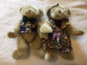 Pair Of 2 First & Main Teddy Bears Ester & Edward