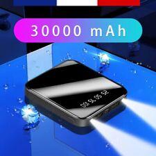 Mini Batterie Externe Portable Powerbank 30000 mAh Double USB + Lampes LED