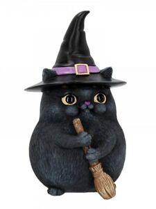 Lucky Cat Ornament Black 12cm