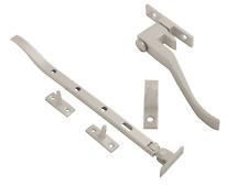Satin Aluminium Window Casement Stay / Wedge Fastener Window Furniture 8-12 Inch