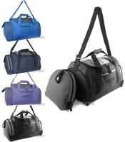 "MEDIUM HOLDALL 19"" CABIN FLIGHT WEEKENDER BAG SPORT GYM LOCKER TRAVEL BAG 39 LTR"