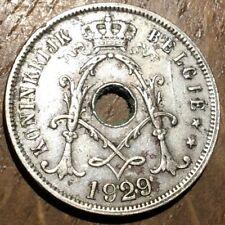 PIECE DE 25 CENTIMES 1929 BELGIQUE (277)