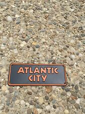 Vintage New Jersey/Atlantic City Black And Orange Small license plate