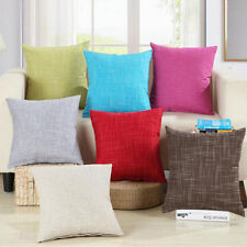 "18"" Home Sofa Cotton Decor Plaids Throw Pillow Case Square Waist Cushion Cover"