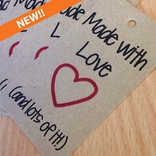 Made with Love (and lots of it) Gift Tags, perfect for handmade / homemade gifts