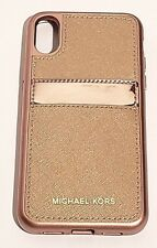 Michael Kors Saffiano Leather Phone Case for iPhone X (10) - Rose gold