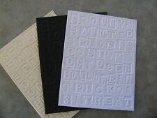 Sizzix Tim Holtz HALLOWEEN Words embossed card panel