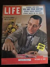 Life Magazine The Bedside Manner Thing of the Past October 1959 Newsstand MINT