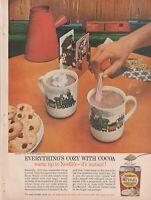 """NESTLE SWEET MILK COCOA Vintage 1960's 8"""" X 11.25"""" Magazine Ad STP5 B"""