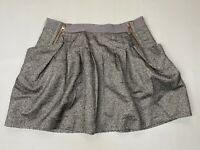 TED BAKER Skirt - Size 4 UK14 - Grey - Great Condition - Women's